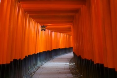 The Japanese Magnificent Scenery in kyoto【No 3】|Fushimi Inari Taisha located in Kyoto city. Senbon torii.